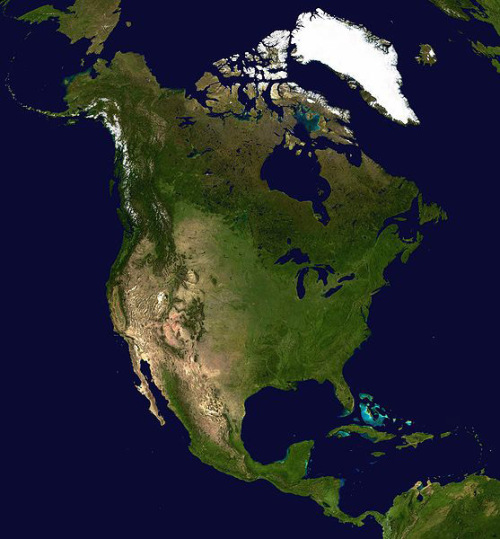 NASA image of Michigan and the Great Lakes, and some other stuff