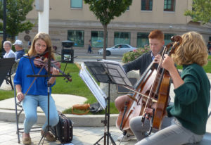 Musicians add to the festive atmosphere of ArtPrize